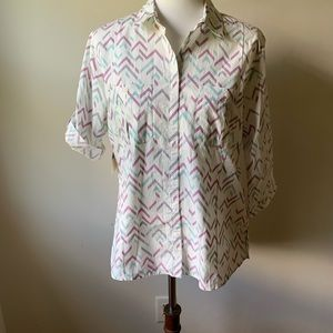 "NWT Horny Toad 3/4"" Button Down Top"